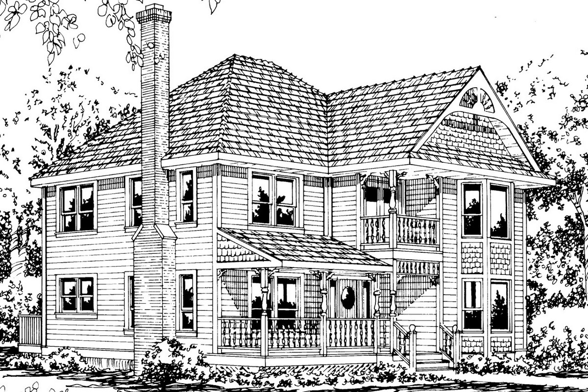 victorian-house-design-coloring-page-drawing