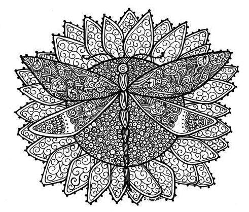 Dragonfly-mandala-coloring-page
