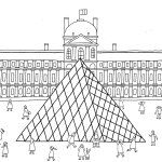 Louvre-Landscape-Paris-Coloring-Pages