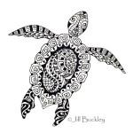 Turtle-mandala-zentangle-coloring-picture