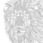 Magical Jungle Lion print out drawing