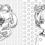 Pop-Manga-Coloring-Book-Designs