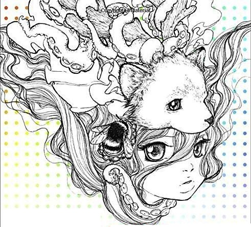 pop manga stunning pattern artworks - Manga Coloring Book