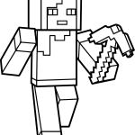 Minecraft Coloring Pages Alex