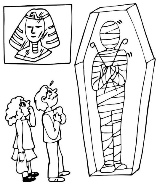 Egyptian Mummy Coloring Pages To Print