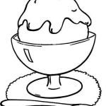 Ice Cream In A Glass Coloring Food Coloring Page