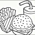 Junkfood Printable Fast Food Coloring Pages