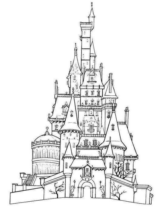 Cinderella Castles Coloring Page To Print