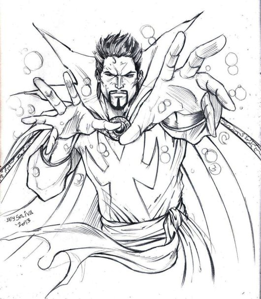 Doctor Strange Coloring Page Superhero 1