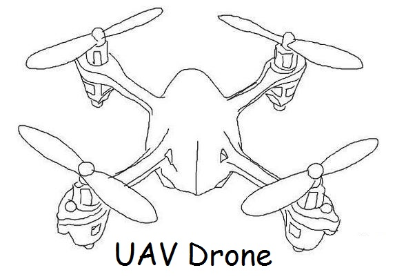Drone Flight Coloring Page