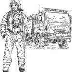 Firefighter Car Coloring Page