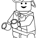 Lego Fireman Coloring Pages Firefighter