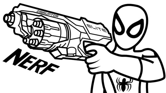 nerf gun coloring page to print - Nerf Coloring Pages