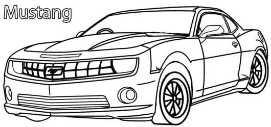 New Ford Mustang Coloring Page To Print