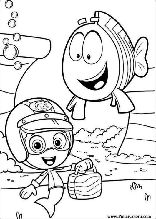 Pintar Bubble Guppies Nickelodeon Coloring Sheet