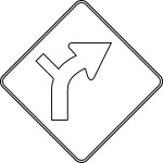 Safety Signs Turn Right Coloring Page