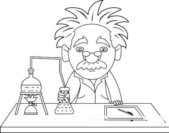 Scientist Chemistry Coloring Page