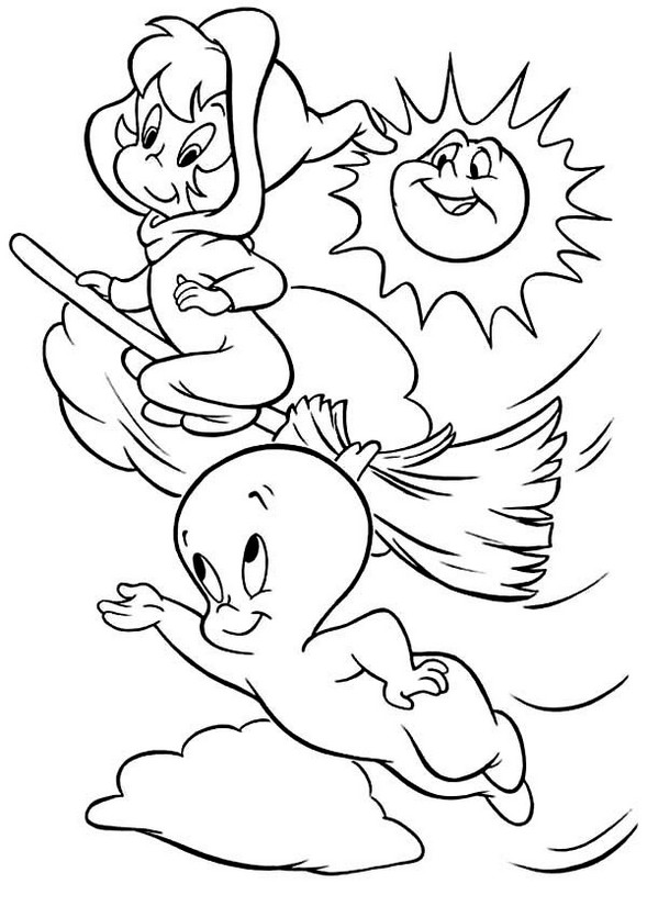Casper The Friendly Ghost Coloring Pages To Print
