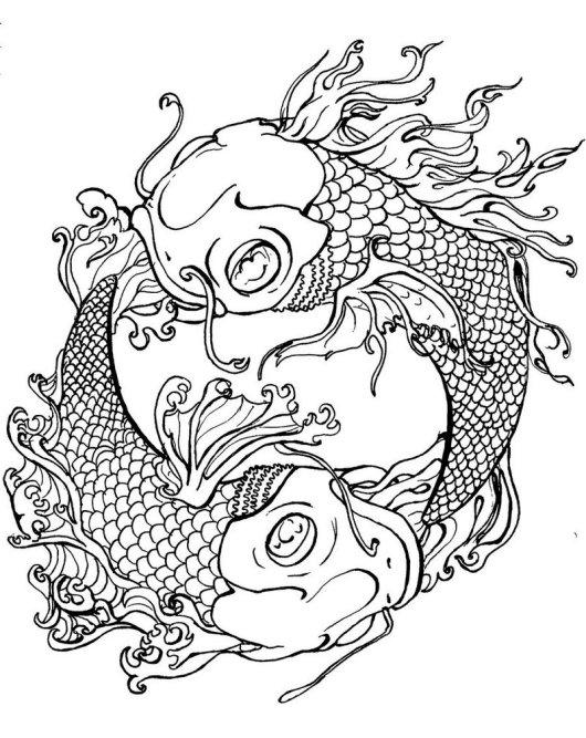 Koi Art Coloring Pages Fish Coloring Sheets