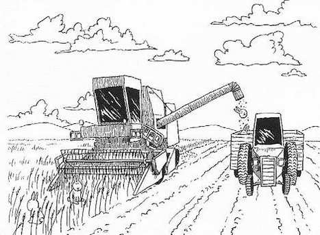 combine harvester coloring page to print - John Deere Combine Coloring Pages