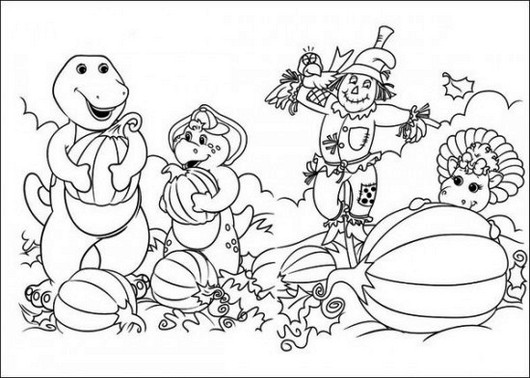 Barney and Friends Coloring Pages Coloring Pages