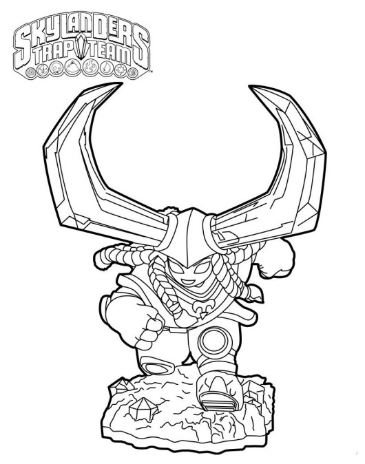 Skylanders Trap Team Coloring Pages Coloring Pages