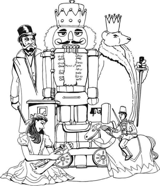 Nutcracker Christmas Coloring Pages