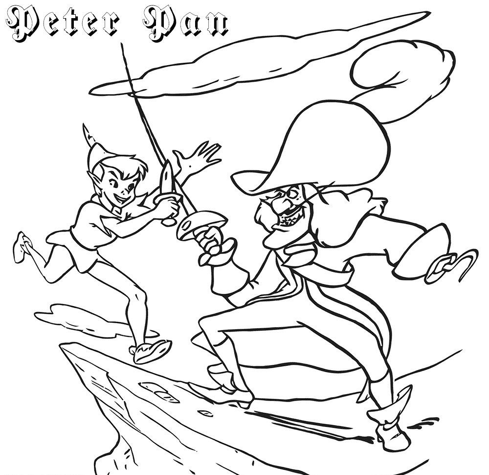 Peter Pan Coloring Pictures