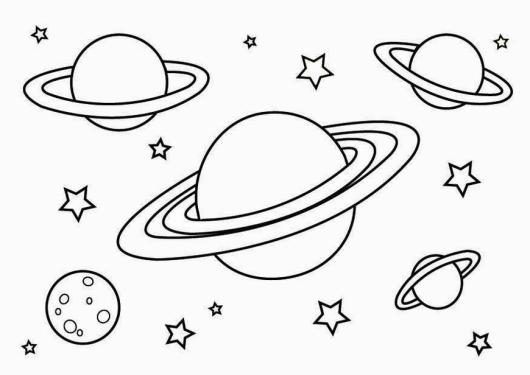 Planet Coloring Pages Printable