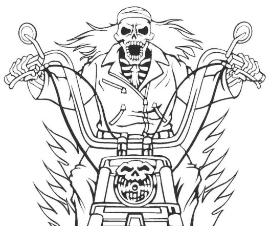 Printable Ghost Rider Coloring Pages