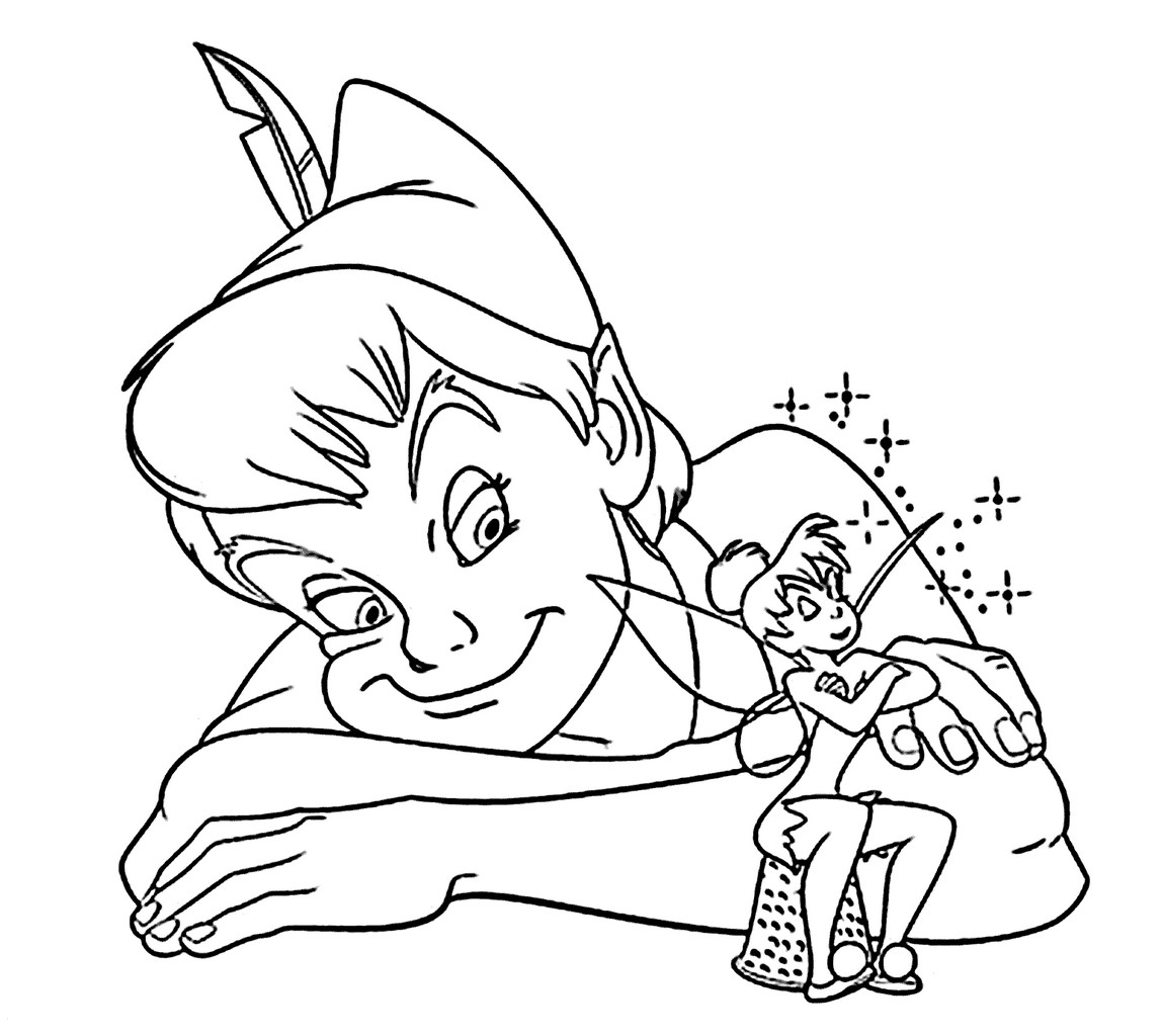 Printable Peter Pan And Fairies Coloring Pages Disney Pixar