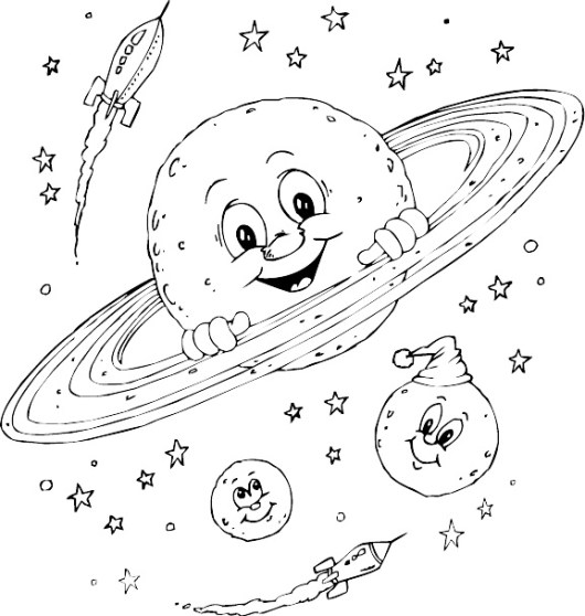 saturn planet coloring pages to print - Planets Coloring Pages