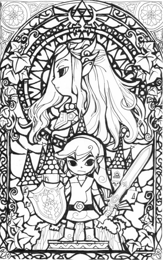 Legend Of Zelda Coloring Pages Interesting The Legend Of Zelda Coloring Pages  Coloring Pages Design Inspiration