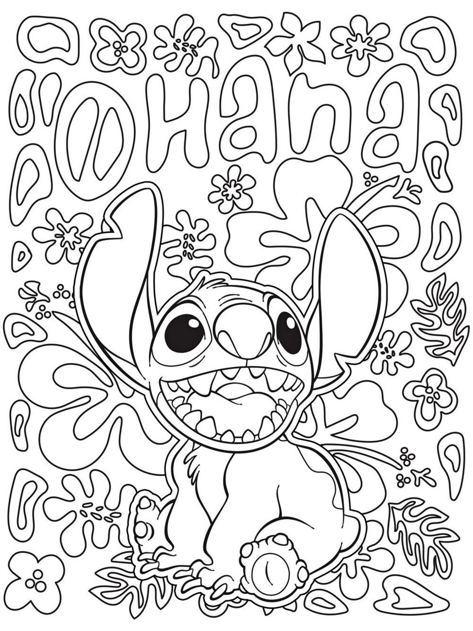 Stitch Disney Coloring Page To Print