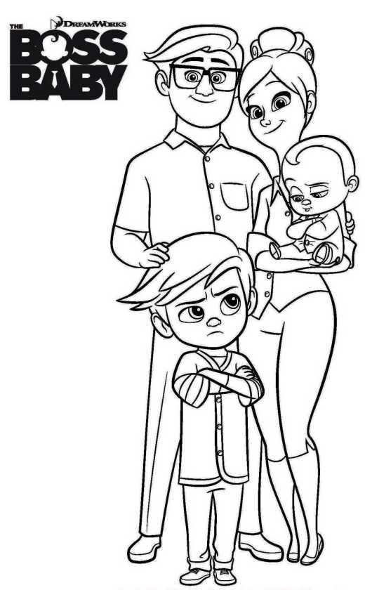The Baby Boss Computer Animated Film Coloring Sheets