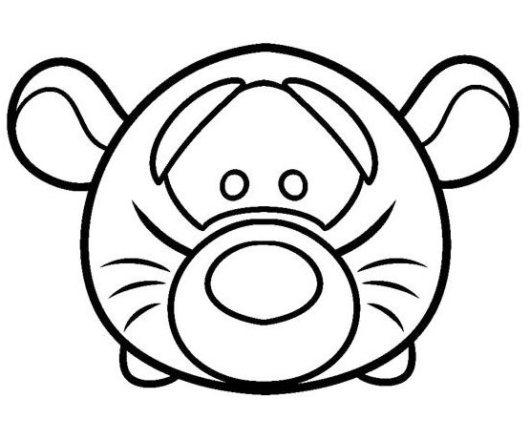 Tsum Tsum Tiger Coloring Page