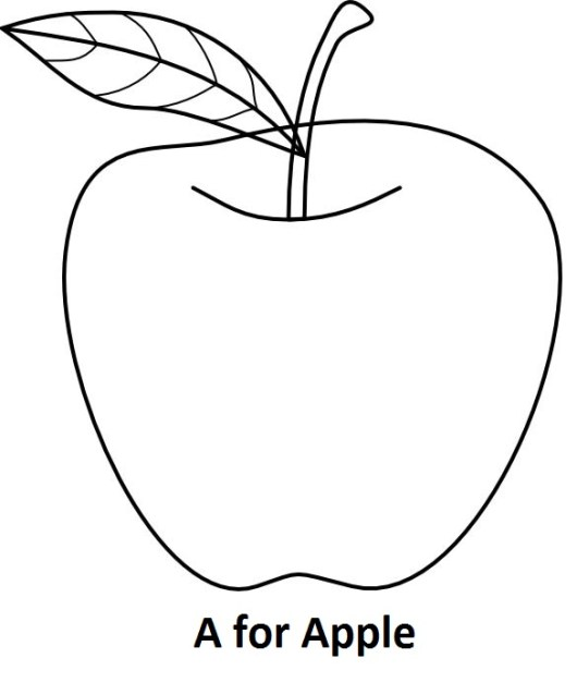 A For Apple Coloring Book