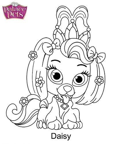 Daisy From Palace Pets Coloring Pages