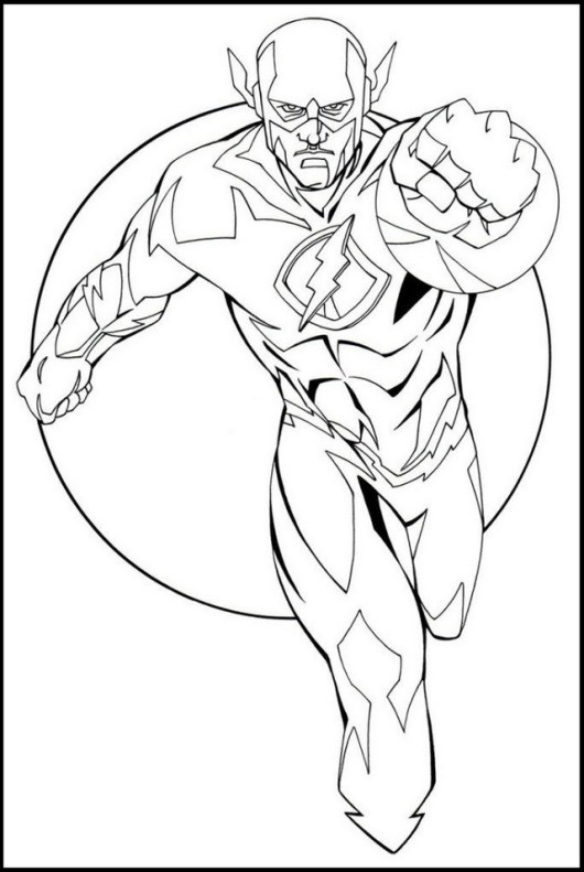 Flash From Justice League Coloring Pages