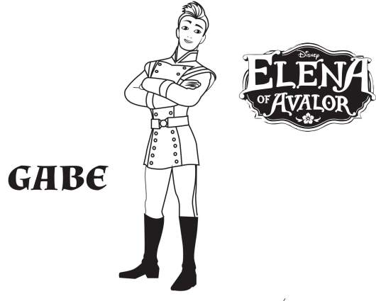 Gabe From Elena Of Avalor Coloring Pages