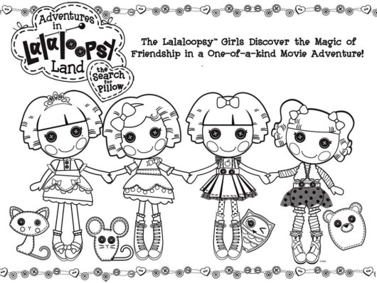 Lalaloopsy Dolls and pet pals Coloring Pages