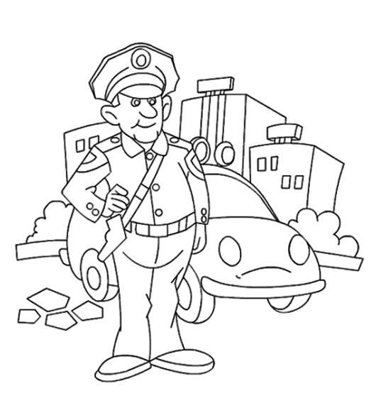 Policeman Coloring Pictures