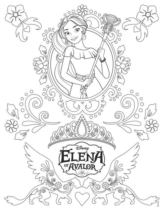 Printable Princess Elena Of Avalor Coloring And Drawing