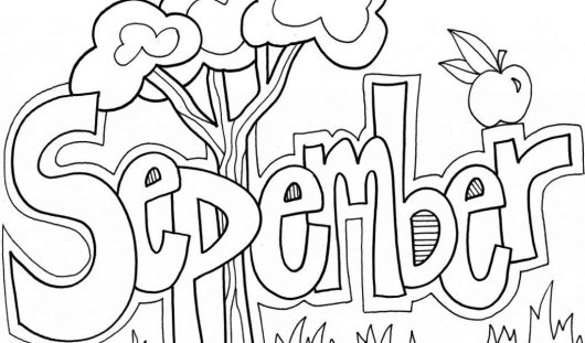 September Month of the Year Coloring Page