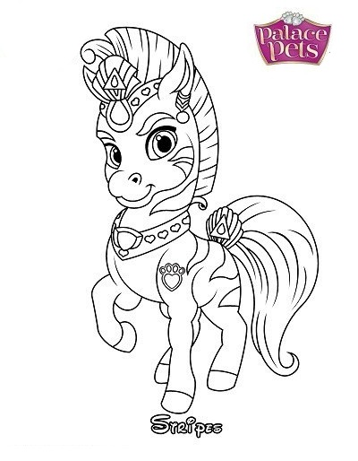 Stripes From Palace Pets Coloring Pages
