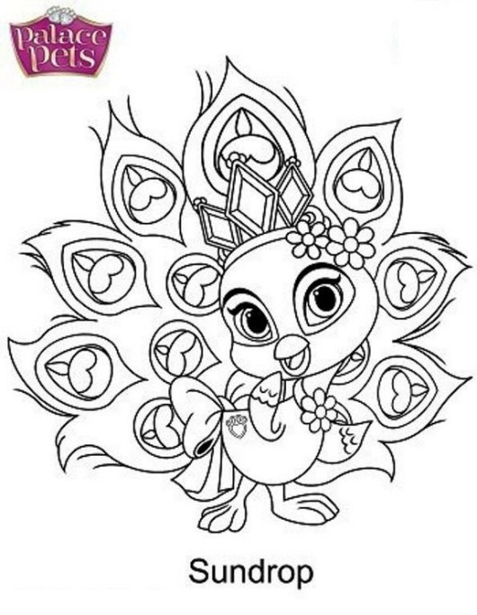 Sundrop From Palace Pets Coloring Pages