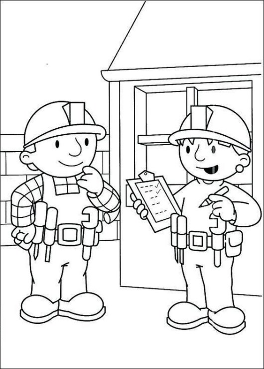 bob the builder construction coloring pages