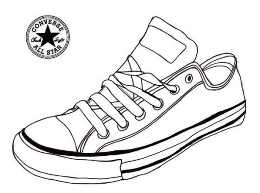 Highly Detailed Converse Coloring Pages - Coloring Pages