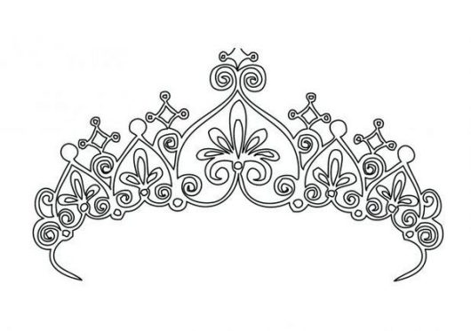 Crown Coloring And Sketch Drawing Pages