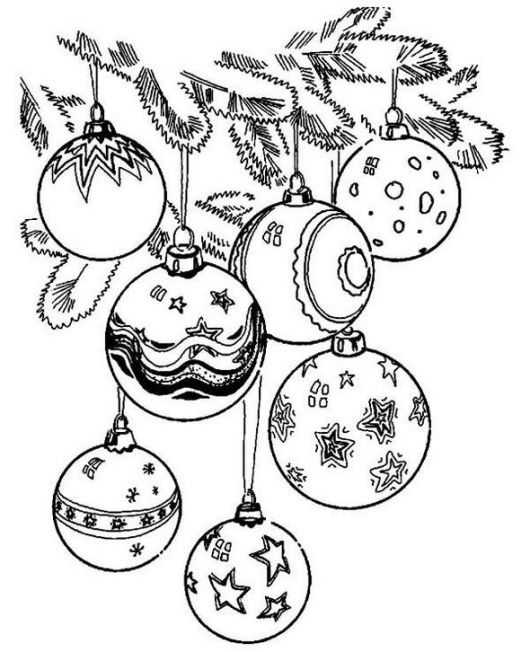 Fun To Color Christmas Ornaments Page
